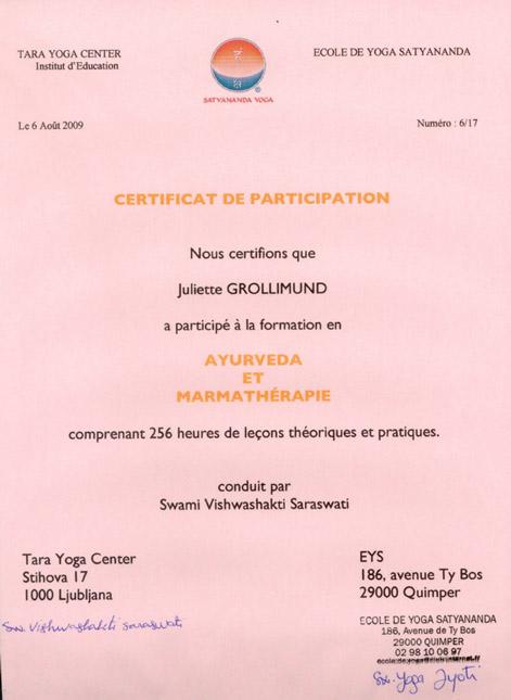 Certificat_ayurveda_marma_Juliette_Grollimund