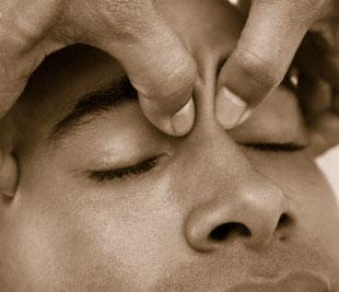 Massage bien-être du visage