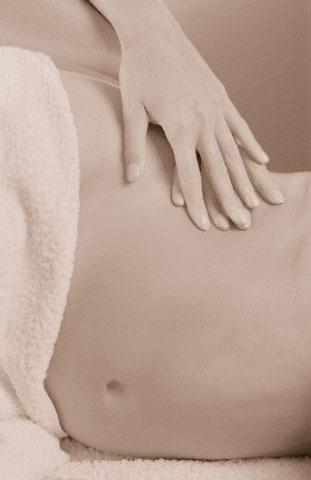 Massage bien-être sur le côté