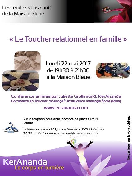 Conférence Toucher relationnel en famille KerAnanda Rennes