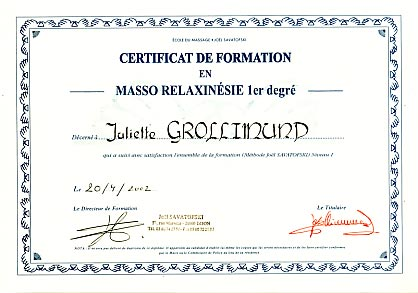 Juliette Grollimund Attestation Praticienne Toucher Massage cycle 1 IFJS