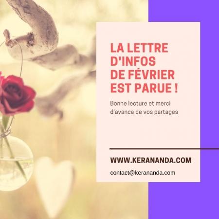 Lettre d'infos actualités formations, séances massages bien-être février KerAnanda Rennes