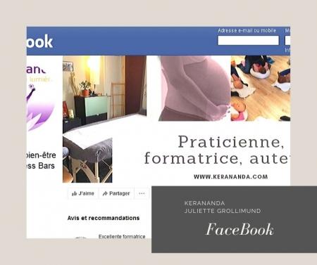 Page Facebook Ker ananda formations massages bien-être Rennes