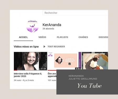 Page YouTube Juliette Grollimund Depoorter KerAnanda