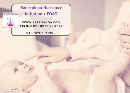 Bon cadeau massage bébé naissance cours en ligne Ker Ananda Rennes