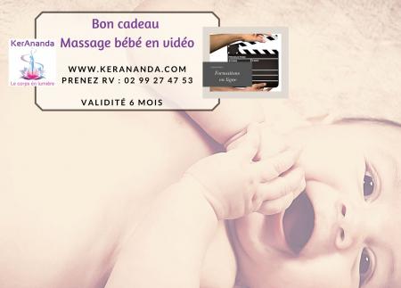 Bon cadeau apprendre à masser son bébé en vidéo