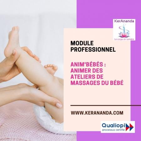 Formation Anim'Bébés, animer des ateliers de massages bébé Rennes